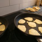 Oat Pancakes Frying